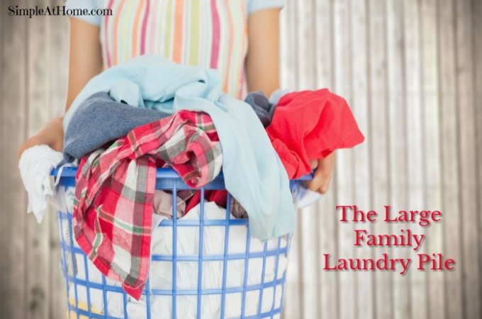 Tips for Tackling the Large Family Laundry Pile