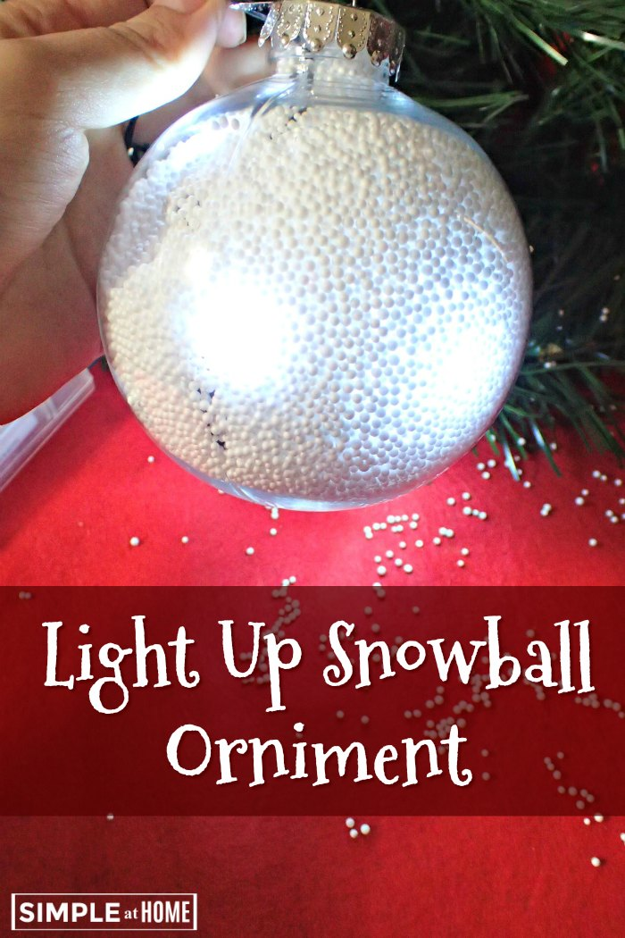 Light Up Snowball Orniment