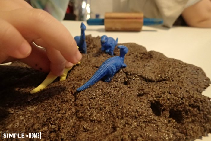 Dinosour Fossil Lesson with Homemade Coffee Salt Dough