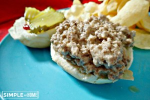Sloppy cheese burgers are fun for the whole family