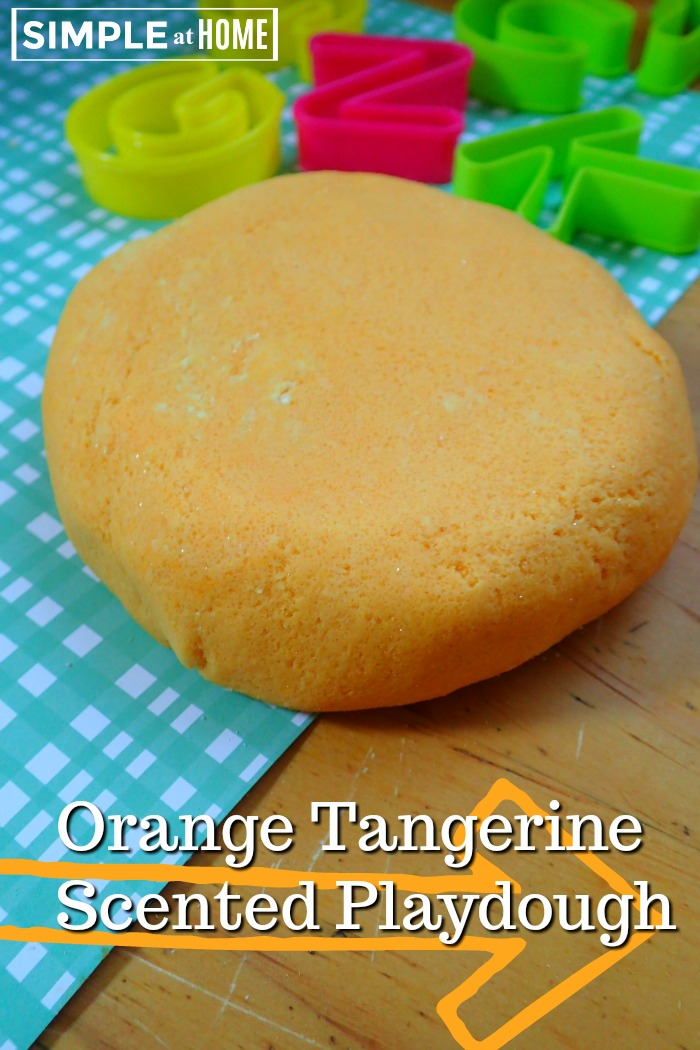 Orange Tangerine Scented Playdough Without Artifical Food Dyes