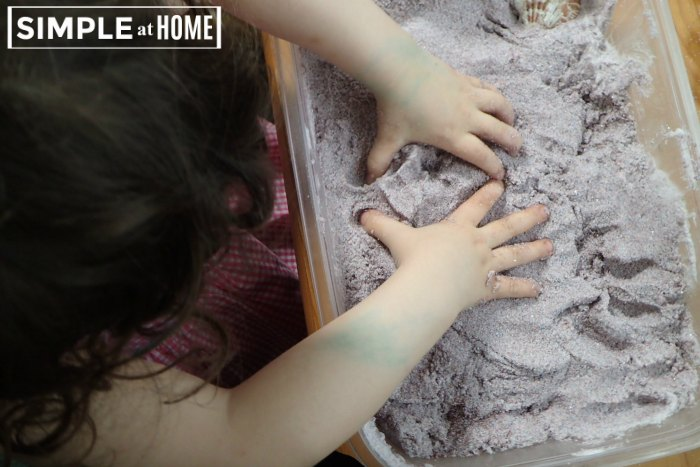 Foam Sand Beach Sensory Play
