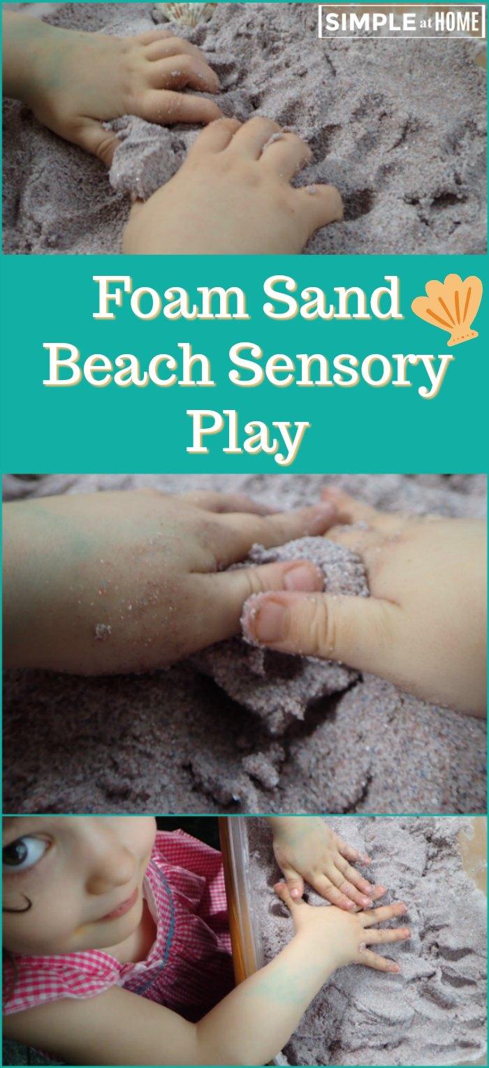 Foam Sand Beach Sensory Play