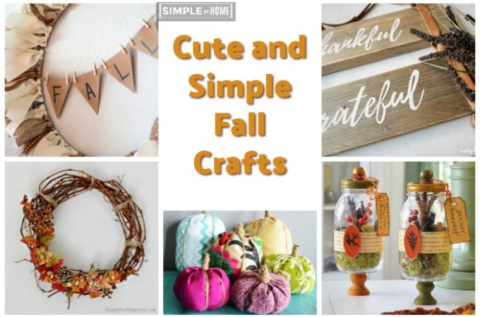Cute and Simple Fall Crafts