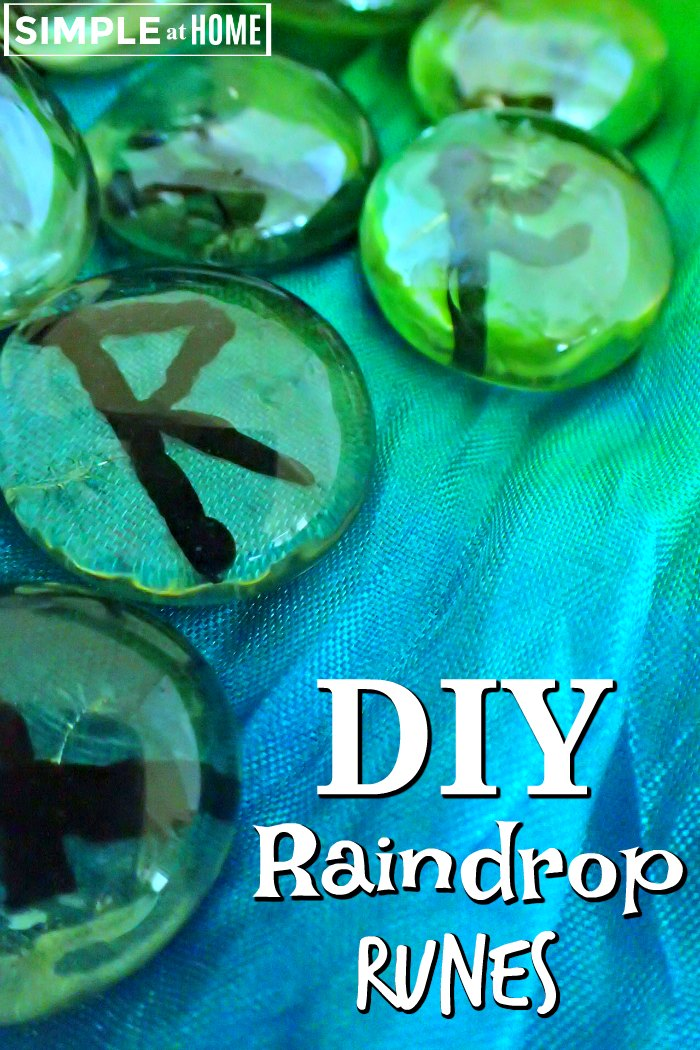 these beautiful raindrop runes are easy and inexpensive to make