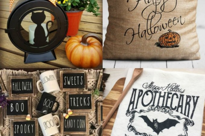 Farmhouse Halloween Decor Ideas