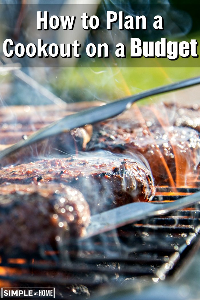 how to plan a cookout on a budget