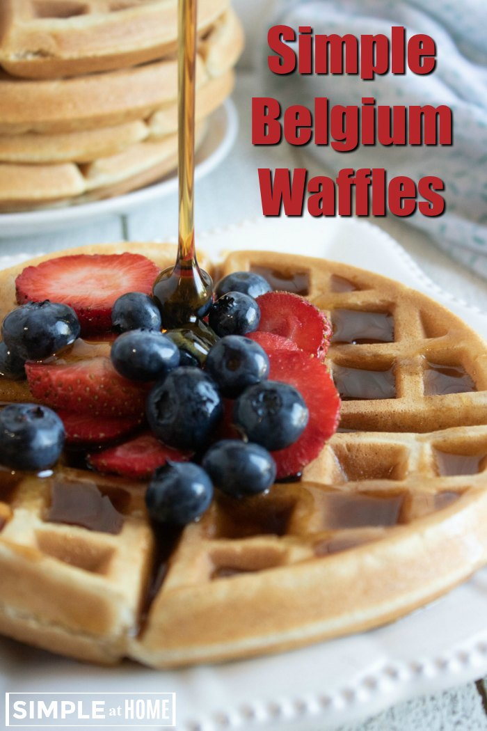 These simple belgium waffles are so easy anyone can make them
