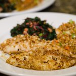 Plate with Almond Crusted Tilapia