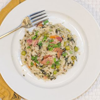 Pressure Cooked Risotto with Pancetta and Kale