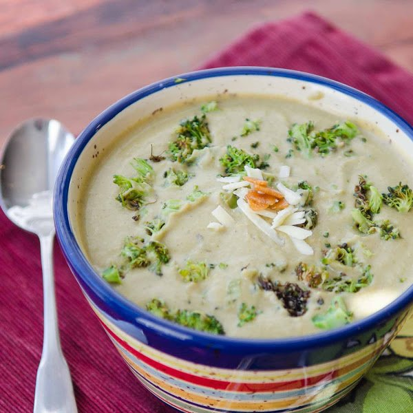 Roasted Broccoli and Garlic Soup