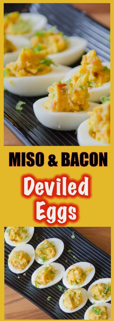 Pin these Miso Bacon Deviled Eggs