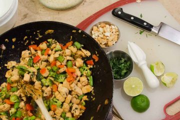 Basil Chicken and Cashew Stir Fry