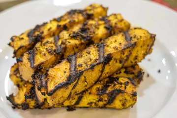 Grilled Tofu with Shawarma Marinade