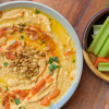 Roasted Red Pepper hummus with vegetables