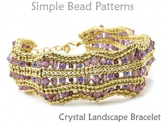 Beaded Herringbone Stitch Crystal Bracelet DIY Jewelry