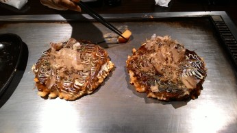 """the """"okonomiyaki"""" or Japanese pizza"""