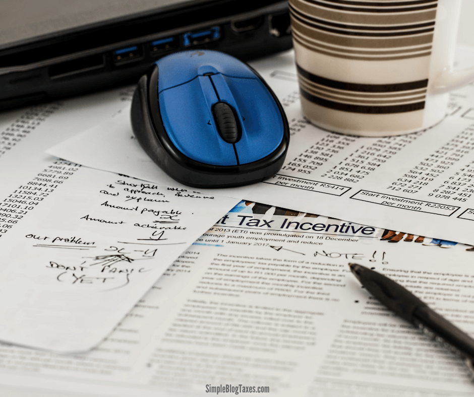 Have you made money blogging? Are you wondering where in the world you report blog income on your taxes? Here is the breakdown you need to know for tax time. #BlogTaxes #BlogTips #SmallBusinessTaxes #BlogIncome SimpleBusinessTaxes.com