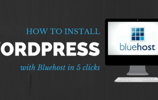 how to install worpress with bluehost in 5 clicks