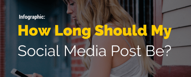 Infographic: How long should my social media post be