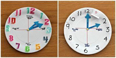 نتيجة بحث الصور عن فكرة عمل ساعة من الاطباق