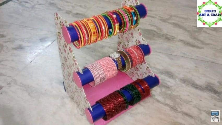 How To Make Bangle Stand Simple Craft Ideas