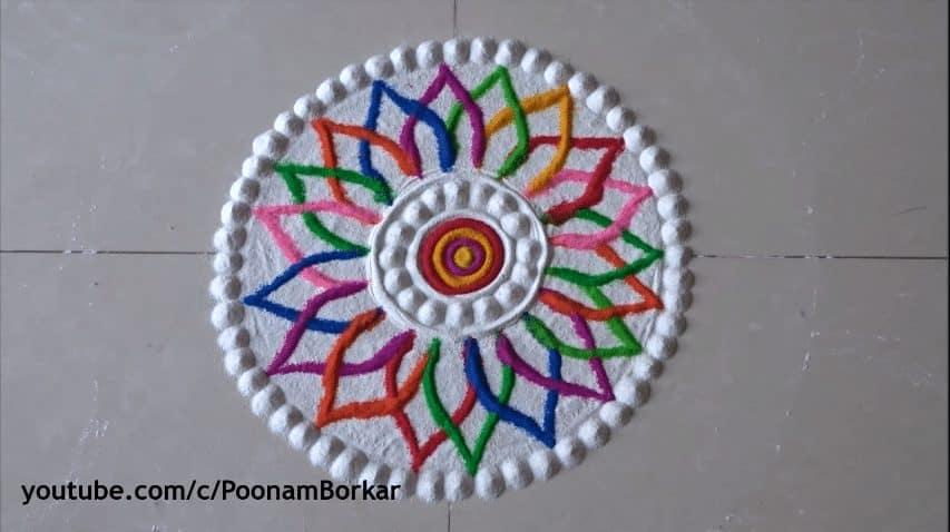 Diwali Special Multicolored Rangoli Design Simple Craft