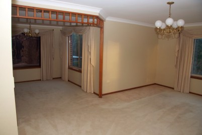 Lounge room before ...