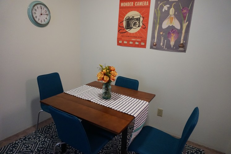 Chairs, clock and table (Target) Rug (Target) Posters (The Lady Jane)