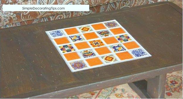 SimpleDecoratingTips.com tile table