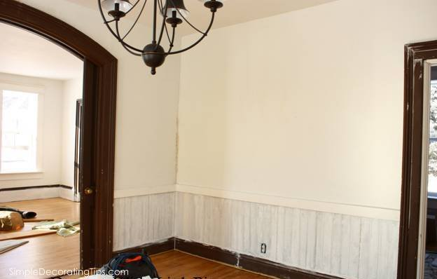 SimpleDecoratingTips.com Little Brick Cottage Dining Room Before and After