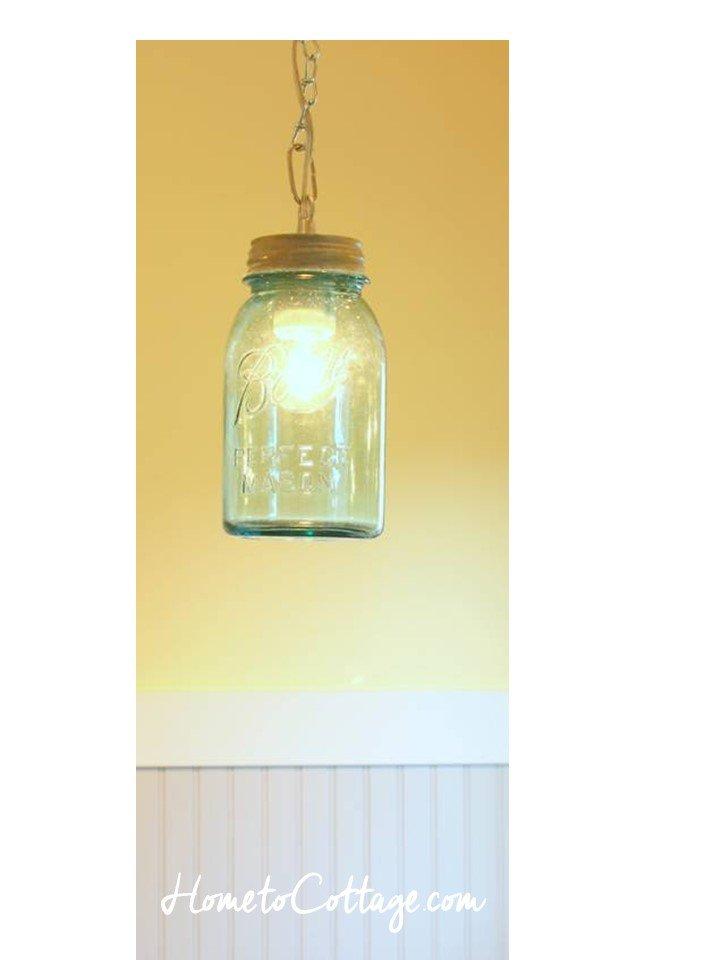HometoCottage.com DIY canning jar pendant