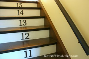HometoCottage.com steps with painted risers and numbers