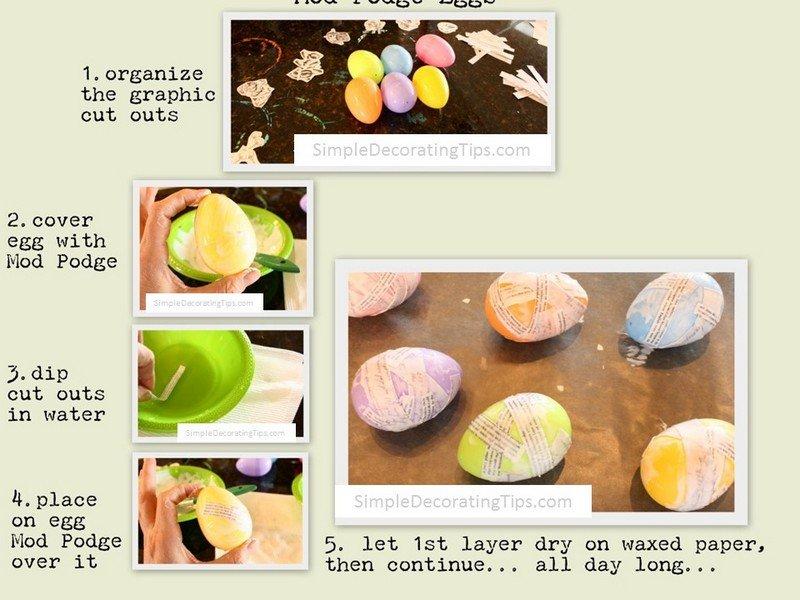 SimpleDecoratingTips.com Mod Podge eggs 4