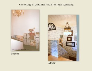 HometoCottage.com creating a gallery wall