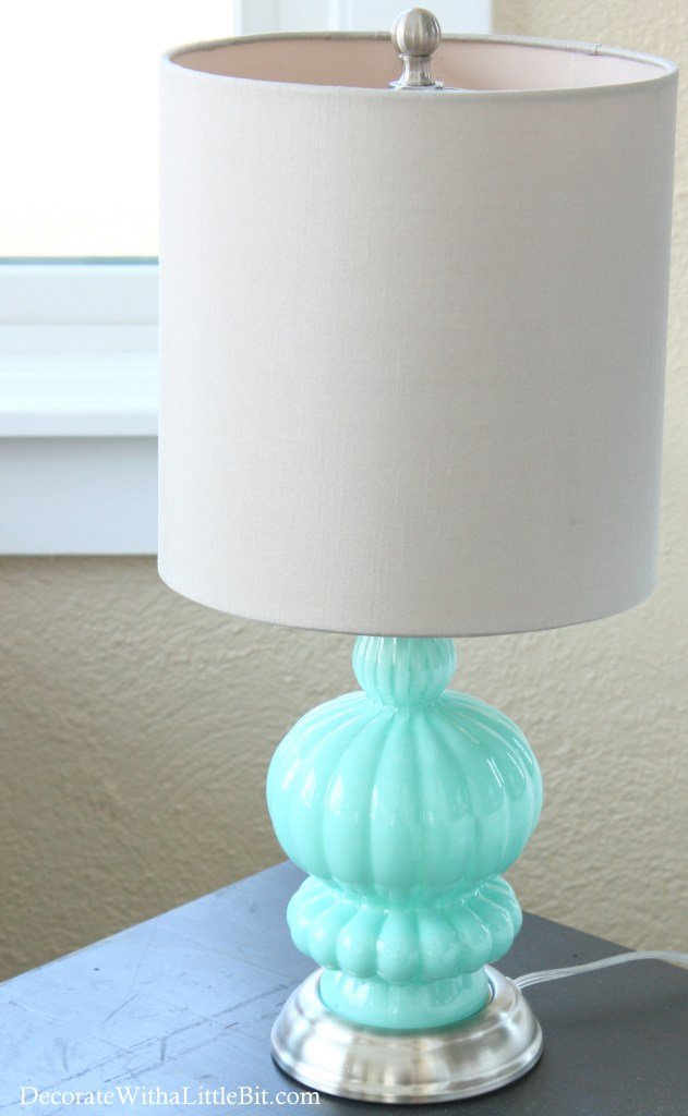 DecorateWithaLittleBit.com porch now fun lamp color