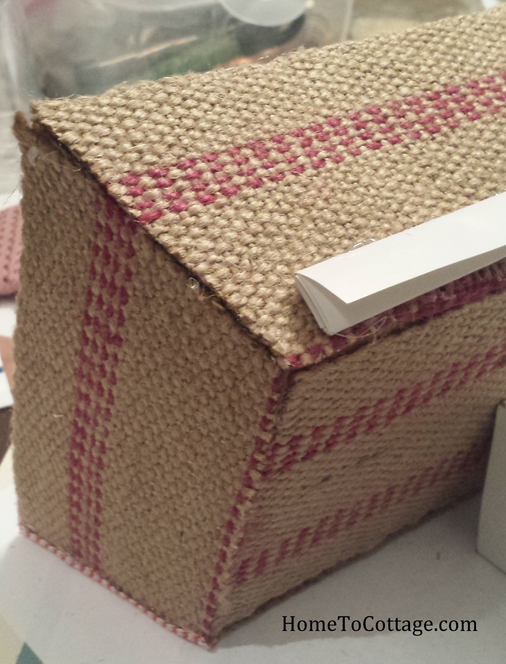 4 HomeToCottage.com diorama cardstock wedge glued on bottom