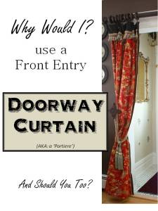 HometoCottage.com Doorway Curtain Portiere