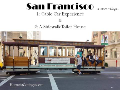 HometoCottage.com San Francisco title page for cable cars and sidewalk toilet house