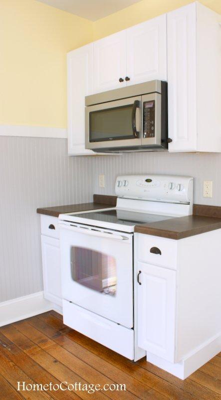 HometoCottage.com brick cottage farmhouse style kitchen range