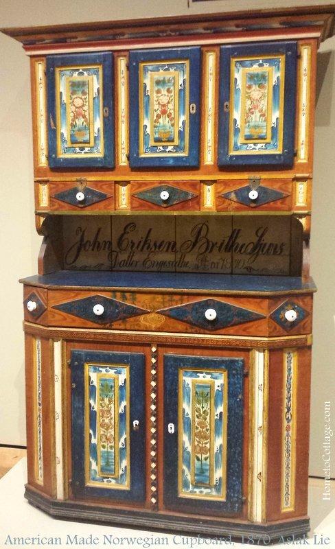 HometoCottage.com c. 1870 Norwegian CupboardAslak Lie