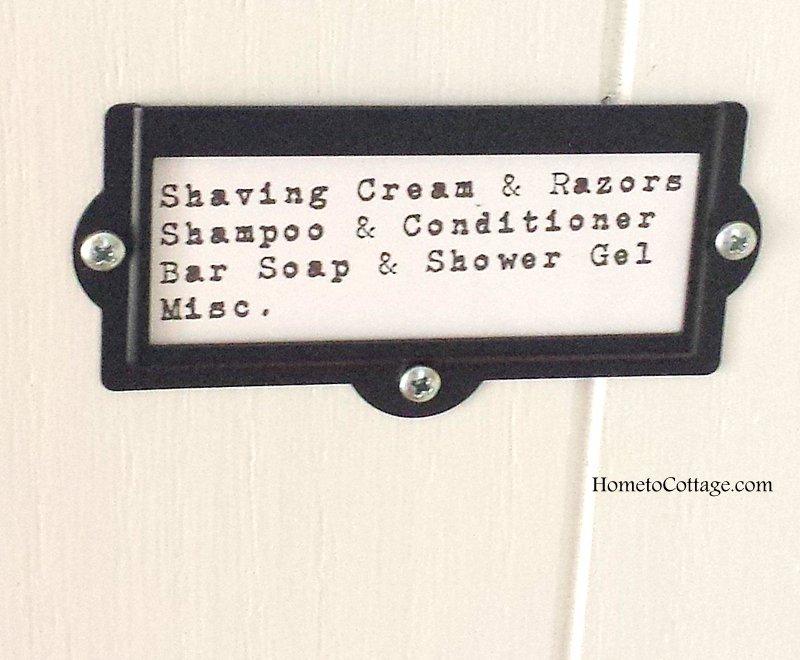 HometoCottage.com Linen Closet Label