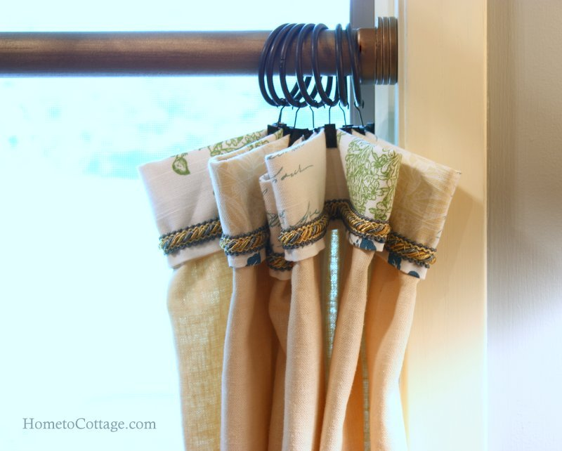 HometoCottage.com cafe curtain detail