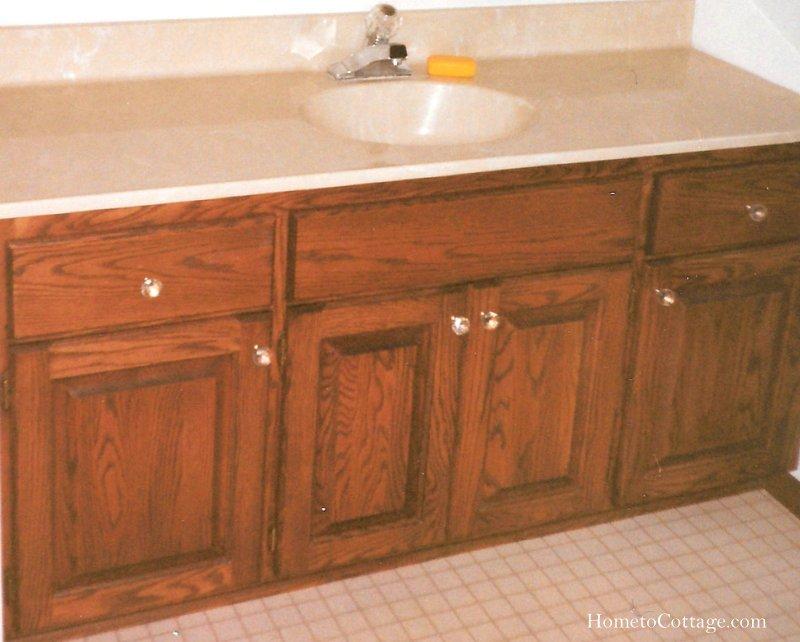 HometoCottage.com Before: dark wood cabinets