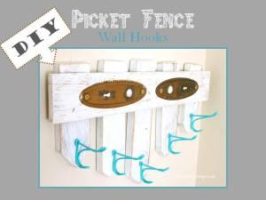 HometoCottage.com DIY Picket Fench Wall Hooks