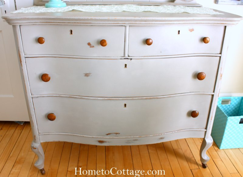 HometoCottage.com chalk painted dresser