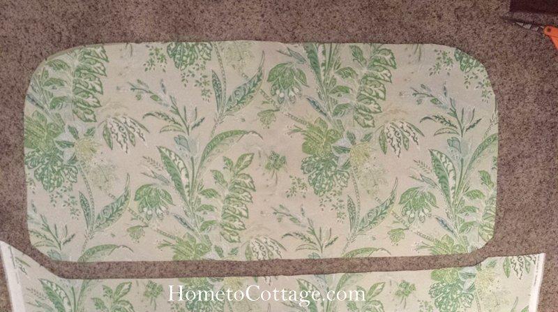 HometoCottage.com bench seat fabric