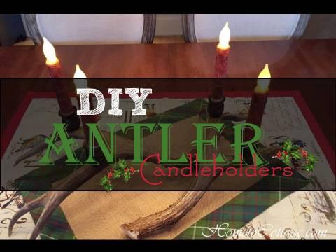 HometoCottage.com DIY Antler Candleholders
