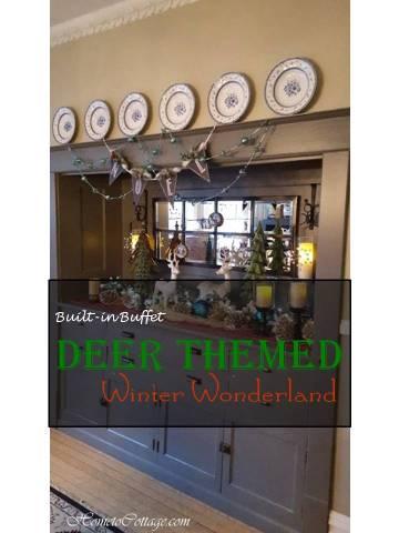 HometoCottage.com Deer Themed Winter Wonderland