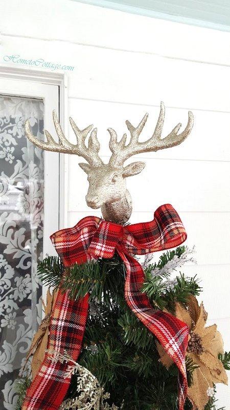 HometoCottage.com deer tree topper